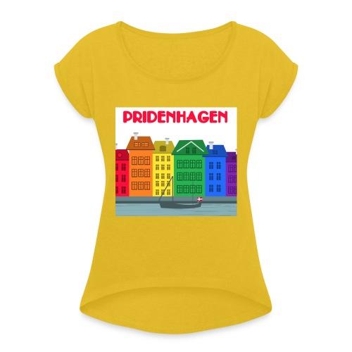 PRIDENHAGEN RETRO T-SHIRT - Dame T-shirt med rulleærmer
