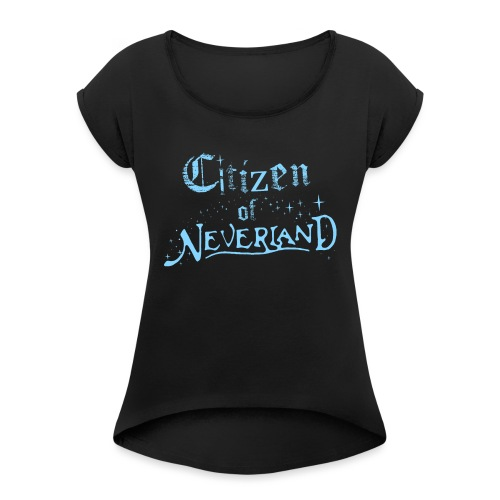 Citizen_blue 02 - Women's T-Shirt with rolled up sleeves