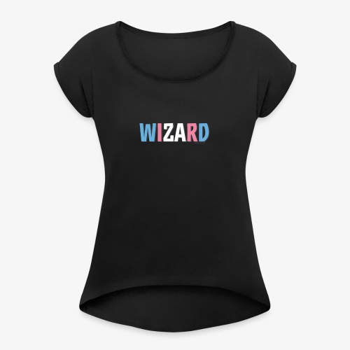 Pride (Trans) Wizard - Women's T-Shirt with rolled up sleeves