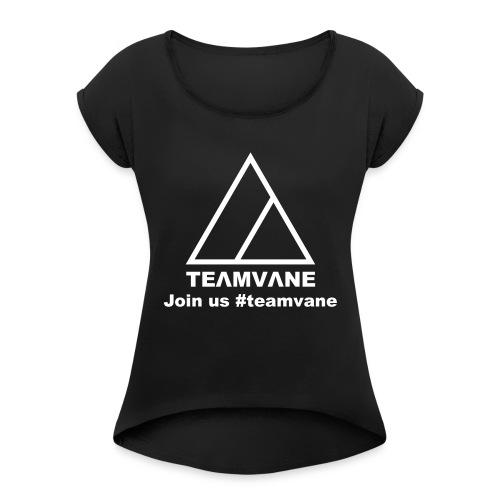 TEΛMVΛNE - Maglietta da donna con risvolti
