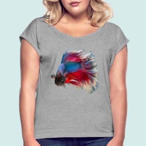 Tropical fish - Frauen T-Shirt mit gerollten Ärmeln