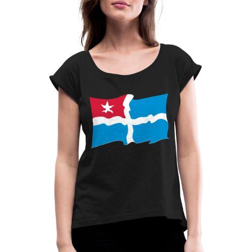 kreta - Frauen T-Shirt mit gerollten Ärmeln