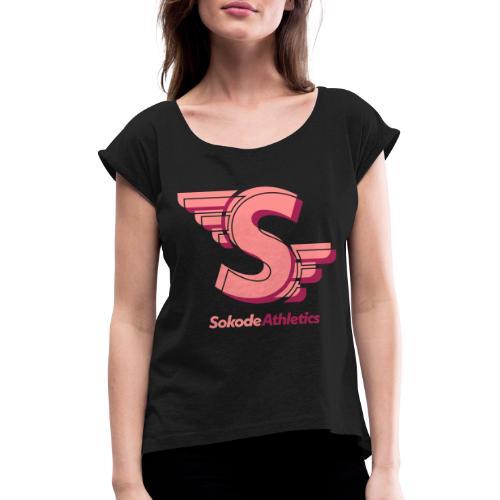 Sokode S-logo Wings - T-shirt med upprullade ärmar dam