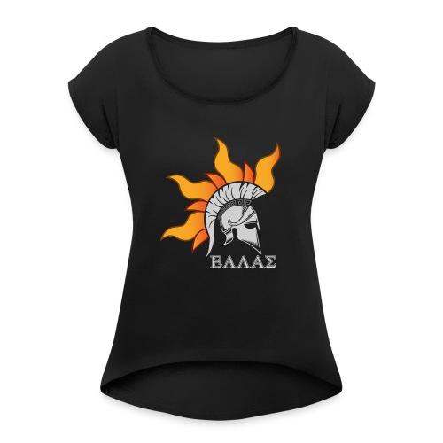 ELLAS Proud to Be - Frauen T-Shirt mit gerollten Ärmeln