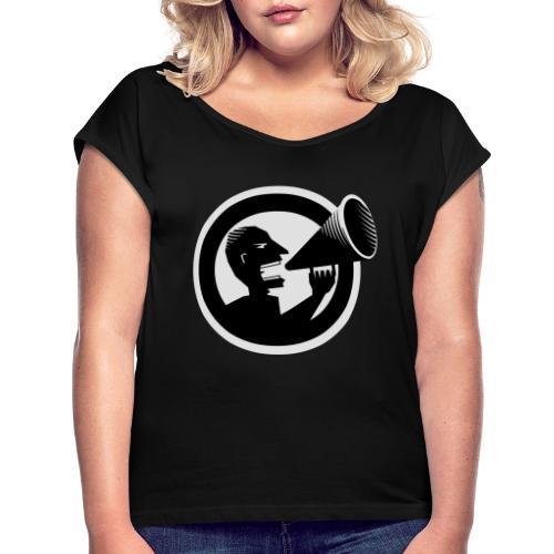 Der Schrei - Frauen T-Shirt mit gerollten Ärmeln