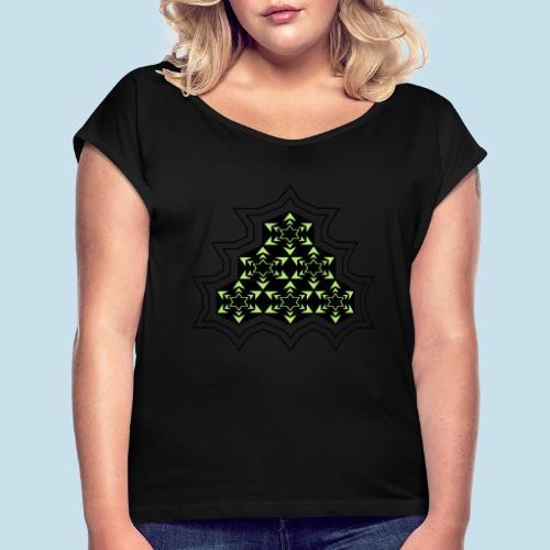 Stern - Frauen T-Shirt mit gerollten Ärmeln