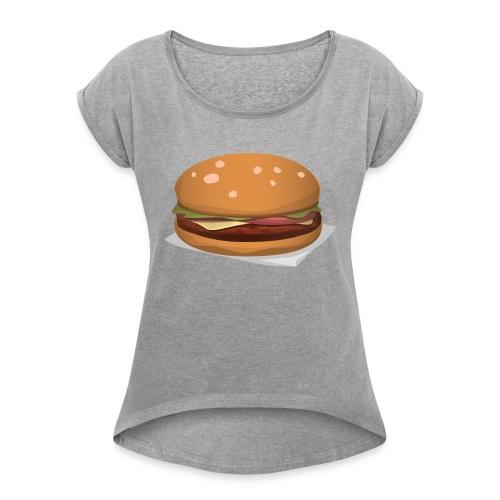 hamburger-576419 - Maglietta da donna con risvolti