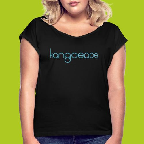 blue kangoeroe design - T-shirt à manches retroussées Femme