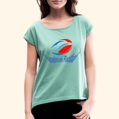 american football - T-shirt à manches retroussées Femme