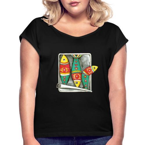 Les sardines du Portugal - T-shirt à manches retroussées Femme