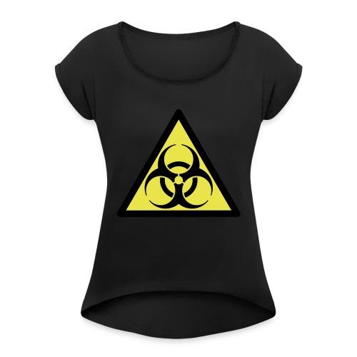 Biohazard - Vrouwen T-shirt met opgerolde mouwen