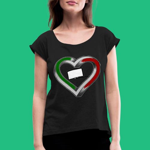 heartleg - T-shirt à manches retroussées Femme