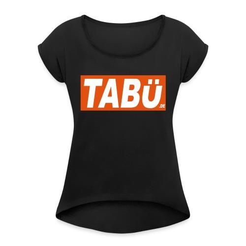 Tabu ShirtVec14 - Frauen T-Shirt mit gerollten Ärmeln