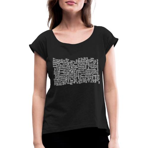 Jackspeak (white) - Women's T-Shirt with rolled up sleeves