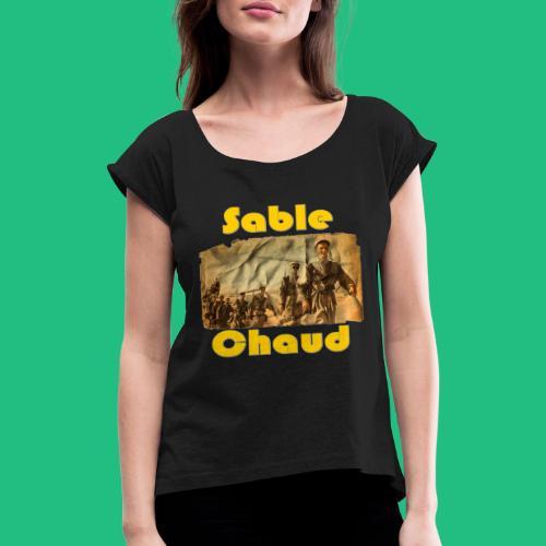 sable chaud6 - T-shirt à manches retroussées Femme