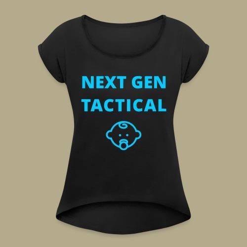 Tactical Baby Boy - Vrouwen T-shirt met opgerolde mouwen