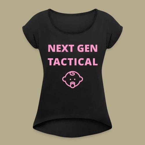 Tactical Baby Girl - Vrouwen T-shirt met opgerolde mouwen
