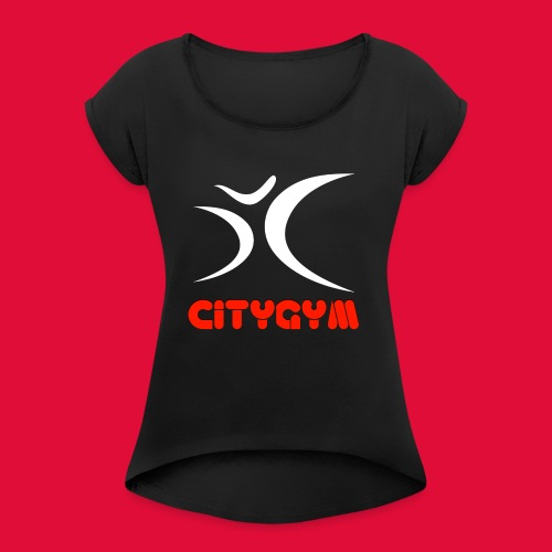 CityGym Guys Pullover - Black - Women's T-Shirt with rolled up sleeves