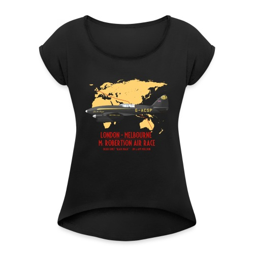 DH.88 Comet Black Magic - T-shirt à manches retroussées Femme