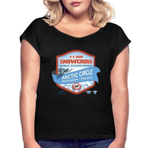 MM Snowcross 2020 virallinen fanituote - Naisten T-paita, jossa rullatut hihat