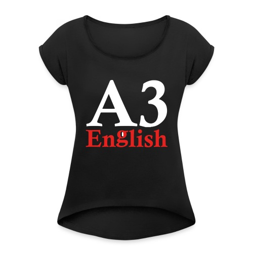 A3Small logo 2 - Women's T-Shirt with rolled up sleeves