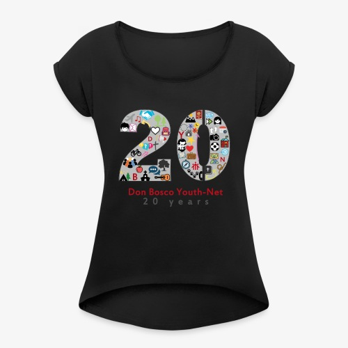 20 years DBYN - Women's T-Shirt with rolled up sleeves