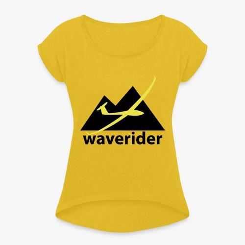 soaring-tv: waverider - Frauen T-Shirt mit gerollten Ärmeln