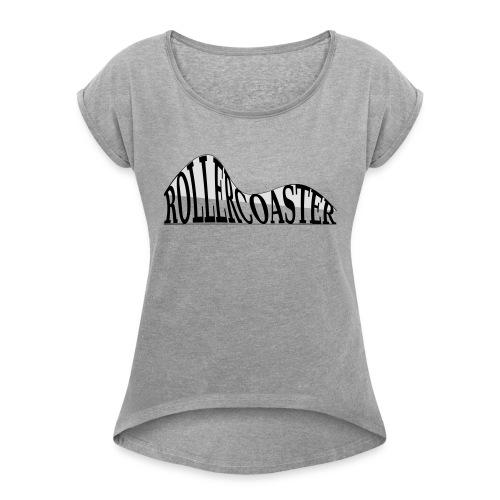 envelope_coaster - Dame T-shirt med rulleærmer