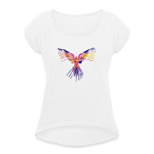 K.A Shirts - Dame T-shirt med rulleærmer
