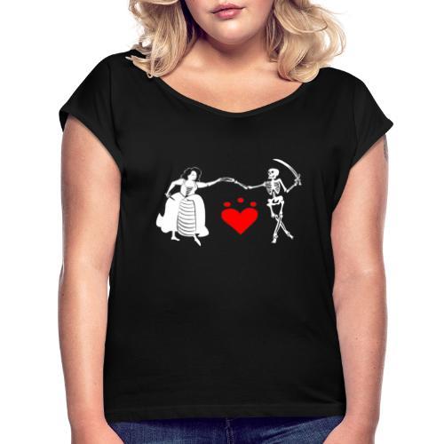 Jacquotte Delahaye - T-shirt à manches retroussées Femme