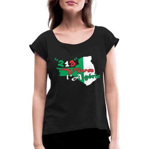 modelage 123 viva l'algerie - T-shirt à manches retroussées Femme