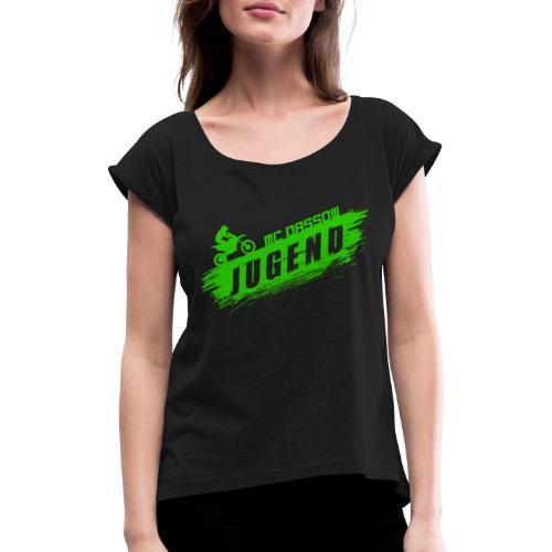 mop - Frauen T-Shirt mit gerollten Ärmeln