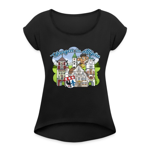Wangen im Allgäu - Frauen T-Shirt mit gerollten Ärmeln