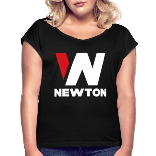 Newtonvaatteet - Naisten T-paita, jossa rullatut hihat