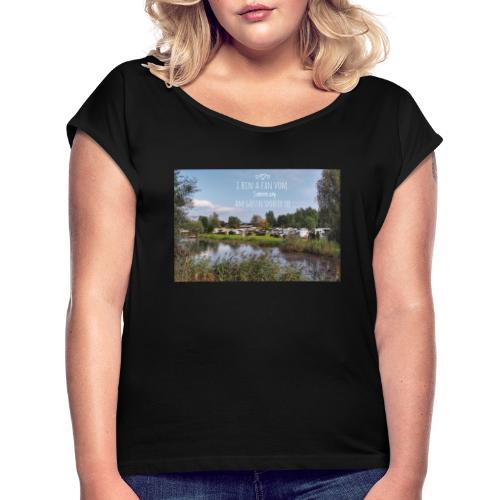 Sonnencamp - Frauen T-Shirt mit gerollten Ärmeln