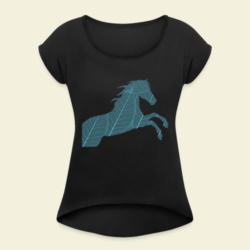 Cheval feuille - T-shirt à manches retroussées Femme