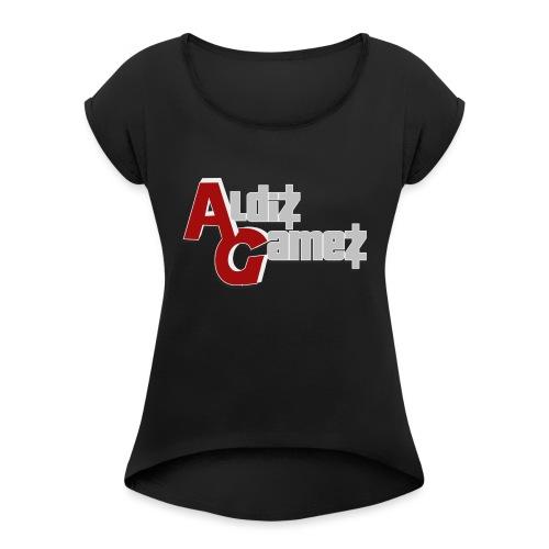 AldizGamez - Vrouwen T-shirt met opgerolde mouwen