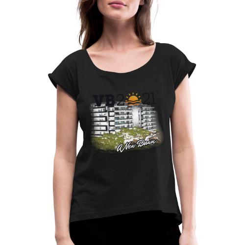 NewDawn BLACK - Women's T-Shirt with rolled up sleeves