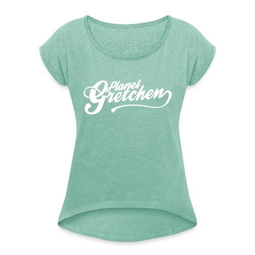 Planet Gretchen - T-shirt med upprullade ärmar dam