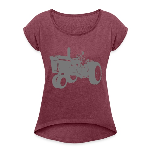 4010 - Women's T-Shirt with rolled up sleeves