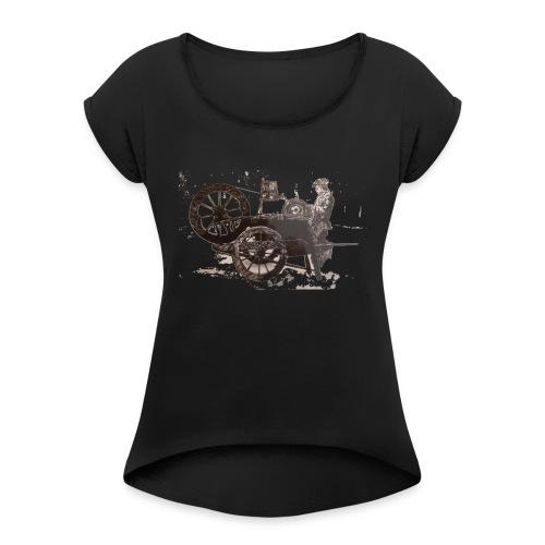 Arrotino - Maglietta da donna con risvolti
