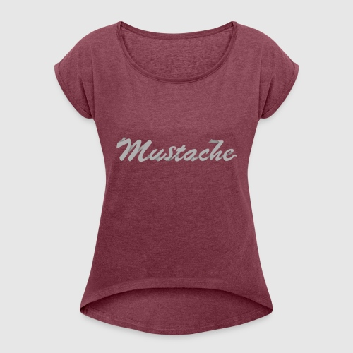 White Lettering - Women's T-Shirt with rolled up sleeves