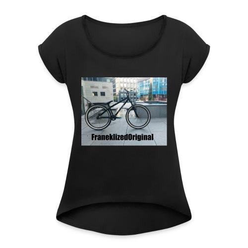 FranekLized original - Koszulka damska z lekko podwiniętymi rękawami