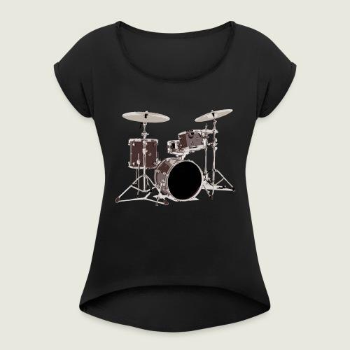 batteria - Maglietta da donna con risvolti