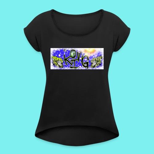 sbtkaq - Frauen T-Shirt mit gerollten Ärmeln