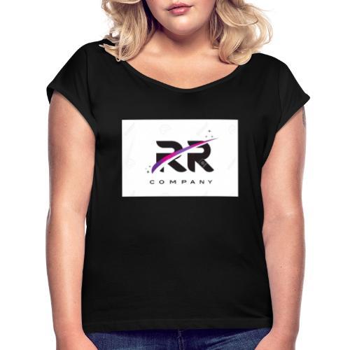 RR COMPANY - Camiseta con manga enrollada mujer