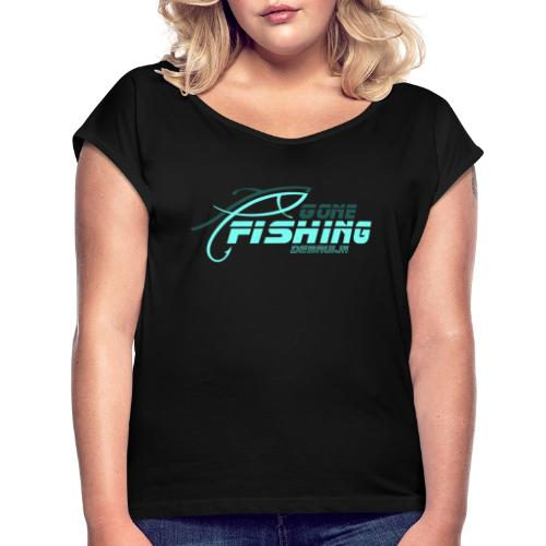GONE-FISHING (2022) DEEPSEA/LAKE BOAT T-COLLECTION - Women's T-Shirt with rolled up sleeves