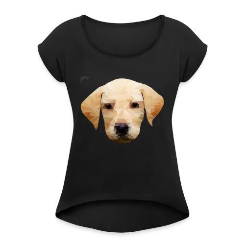 LowPolyDawg - Dame T-shirt med rulleærmer