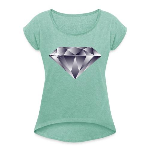 Diamond - Vrouwen T-shirt met opgerolde mouwen