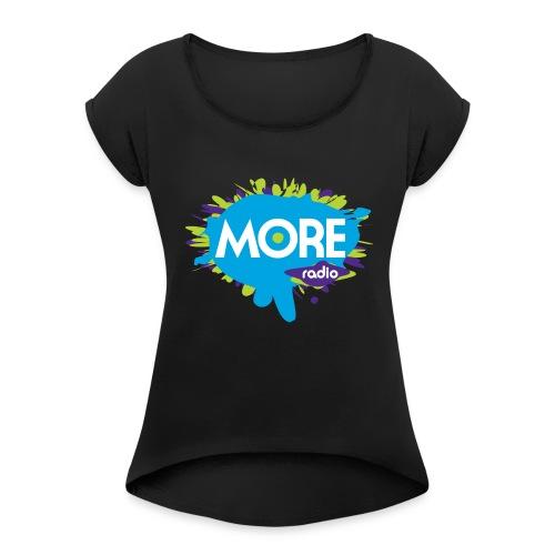 More Radio 2017 - Vrouwen T-shirt met opgerolde mouwen